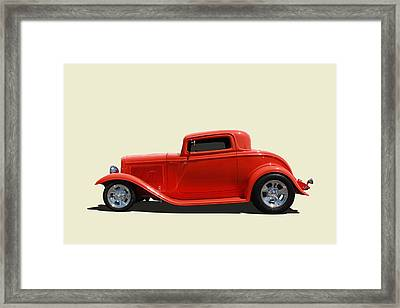 Framed Print featuring the photograph 1932 Ford 3 Window Coupe by Keith Hawley