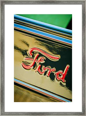 1932 Ford Emblem - 0751c Framed Print by Jill Reger