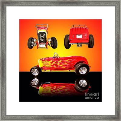1932 Ford Flaming Hotrod Framed Print