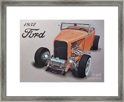 1932 Ford Framed Print by Paul Kuras