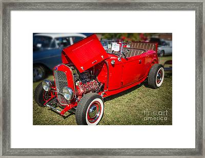 1932 Ford Roadster Classic Automobile Car In Color  3058.02 Framed Print