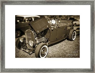 1932 Ford Roadster Classic Automobile Car In Sepia  3058.01 Framed Print