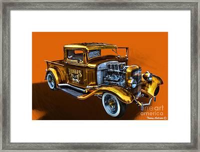 1932 Ford Truck Street Road Framed Print
