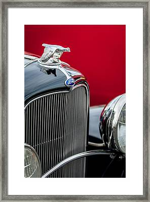 1932 Ford V8 Grille - Hood Ornament Framed Print