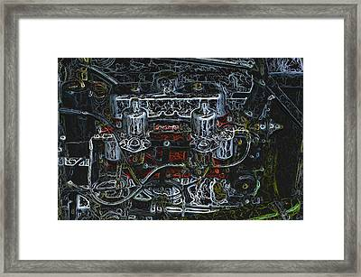 1932 Frazer Nash Tt Engine Detail Digital Art Framed Print