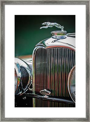 1932 Lincoln Kb Boattail Speedster Hood Ornament - Grille Emblem -0771c Framed Print