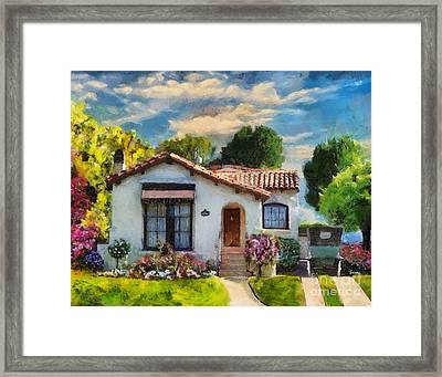 Alameda 1932  Spanish Beauty Framed Print by Linda Weinstock