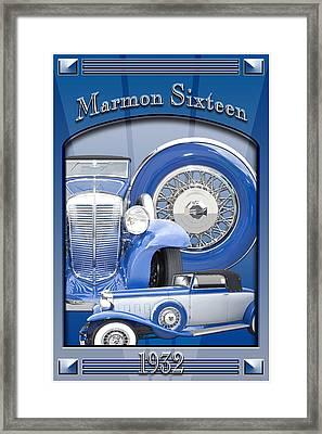 1932 Marmon Sixteen Framed Print by Ed Dooley