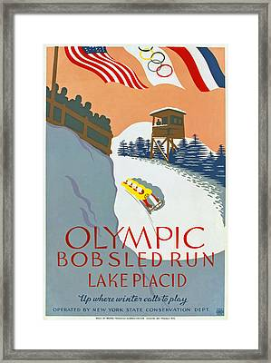 1932 Olympic Games Framed Print by Mountain Dreams