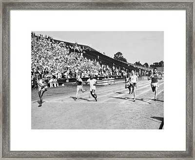 1932 Olympic Track Tryouts Framed Print