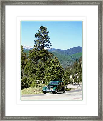 1932 Packard Eight Sedan Cresting Bob Cat Pass Framed Print
