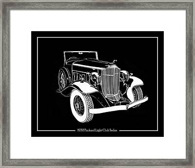 1932 Packard Light Eight Framed Print by Jack Pumphrey
