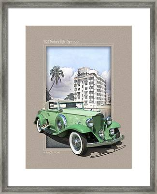 1932 Packard Light Eight Framed Print by Roger Beltz