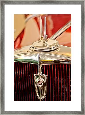 1932 Studebaker Dictator Custom Coupe Hood Ornament - Emblem Framed Print by Jill Reger