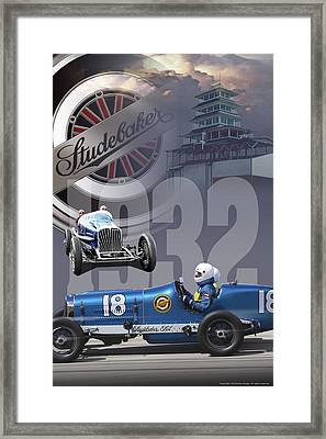 1932 Studebaker Indy Framed Print by Ed Dooley