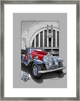1932 Stutz Dv32 Bearcat Framed Print by Roger Beltz