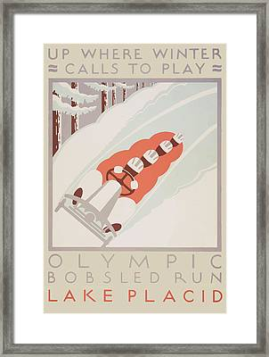 Framed Print featuring the painting 1932 Winter Olympics by American Classic Art