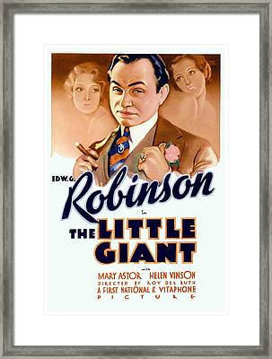 1933 - The Little Giant - Warner Brothers Movie Poster - Edward G Robinson - Color Framed Print