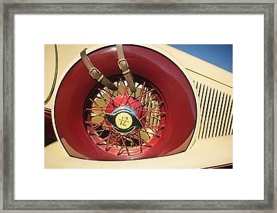 1933 Auburn 12-161a Custom Speedster Spare Tire Emblem Framed Print by Jill Reger