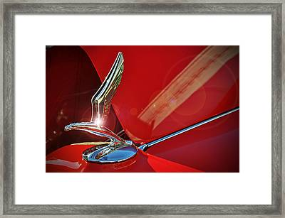 1933 Chevrolet Hood Ornament Framed Print