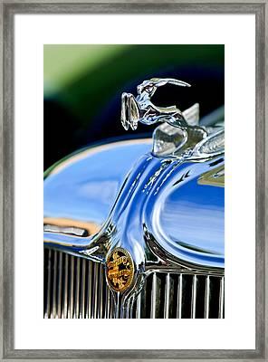 1933 Chrysler Imperial Hood Ornament 3 Framed Print by Jill Reger