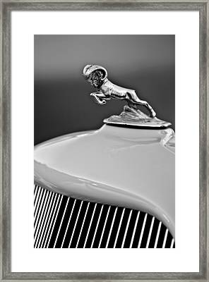 1933 Dodge Ram Hood Ornament 2 Framed Print by Jill Reger