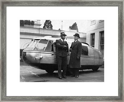1933 Dymaxion Car Framed Print by Underwood Archives