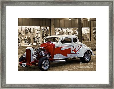 1933 Fashion  Car Framed Print by Eyzen M Kim