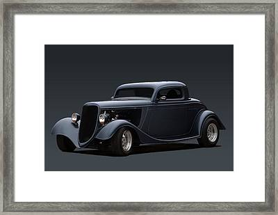 designer Tim Woods Garage Art Print Hot Rod Ford Coupe print signed by artist