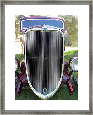 1933 Ford Grille Framed Print