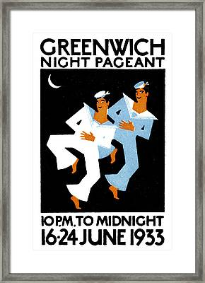 1933 Greenwich Night Pageant Framed Print