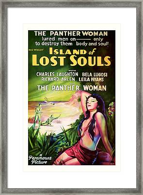 1933 Island Of Lost Souls Vintaage Movie Art Framed Print by Presented By American Classic Art
