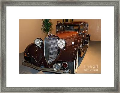 1933 Lincoln Kb Sedan 5d25719 Framed Print