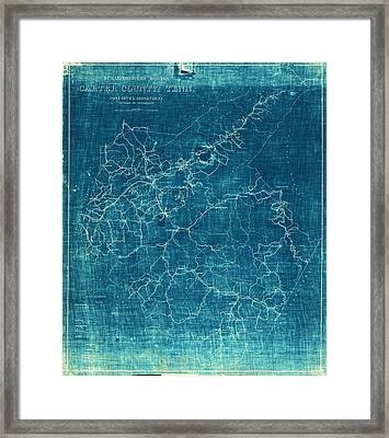 1933 Map Of Carter County Tennessee Framed Print by Cody Cookston