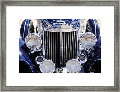 1933 Packard 12 Convertible Coupe Grille Framed Print by Jill Reger