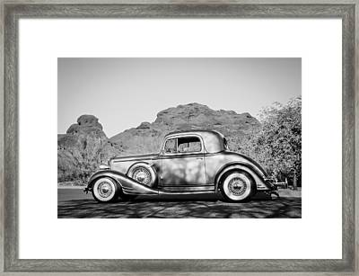 1933 Pontiac -0008bw Framed Print by Jill Reger