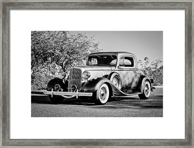 1933 Pontiac -0011bw Framed Print by Jill Reger