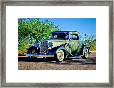 1933 Pontiac -0011c Framed Print by Jill Reger