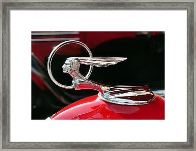 1933 Pontiac Hood Ornament Framed Print by Classic Visions