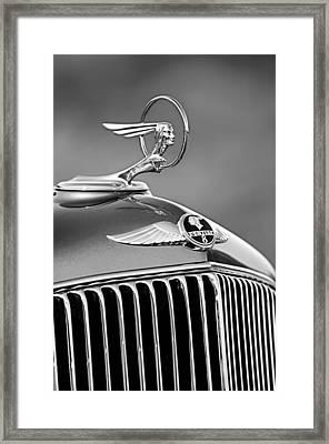 1933 Pontiac Hood Ornament - Emblem -0385bw Framed Print by Jill Reger