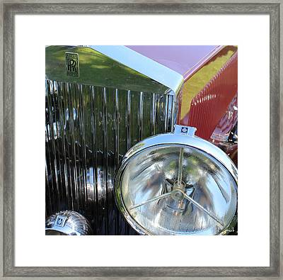 1933 Rolls Royce Phantom II Grille Framed Print by Mark Steven Burhart