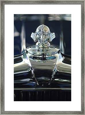 1933 Stutz Dv-32 Hood Ornament 2 Framed Print by Jill Reger