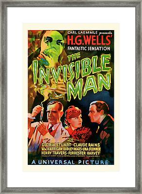 1933 The Invisible Man Vintage Movie Art Framed Print