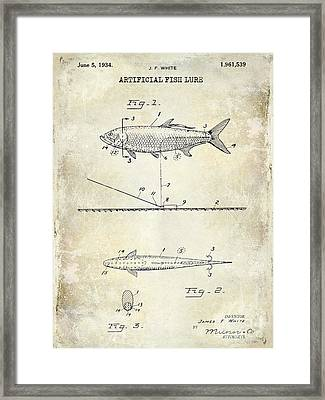 1934 Artificial Fish Lure Patent Drawing Framed Print