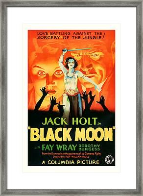 1934 Black Moon Vintage Movie Art Framed Print by Presented By American Classic Art