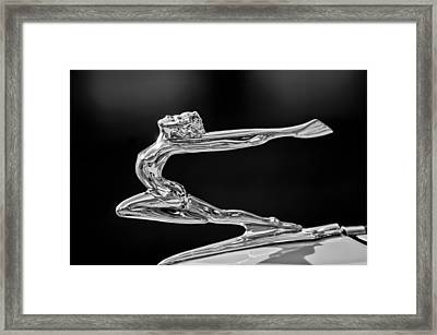 1934 Buick Goddess Hood Ornament -174bw Framed Print