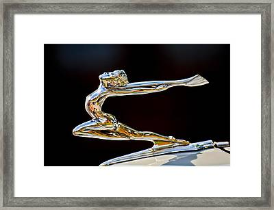 1934 Buick Goddess Hood Ornament Framed Print