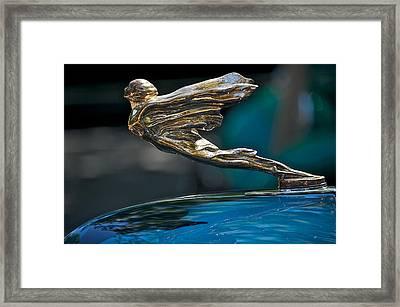 1934 Cadillac Golden Goddess Hood Ornament Framed Print