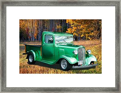 1934 Chev Pickup Framed Print
