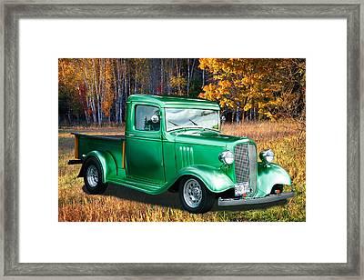 Framed Print featuring the digital art 1934 Chev Pickup by Richard Farrington